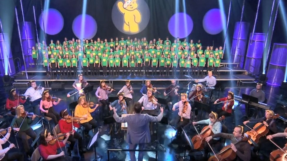 BBC Scotland Children in Need choir and the Scottish Symphony Orchestra