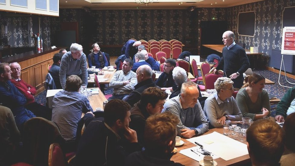 Farmers and growers at the meeting