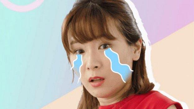 Screenshot of Jiang Chacha for YCloset advertising campaign