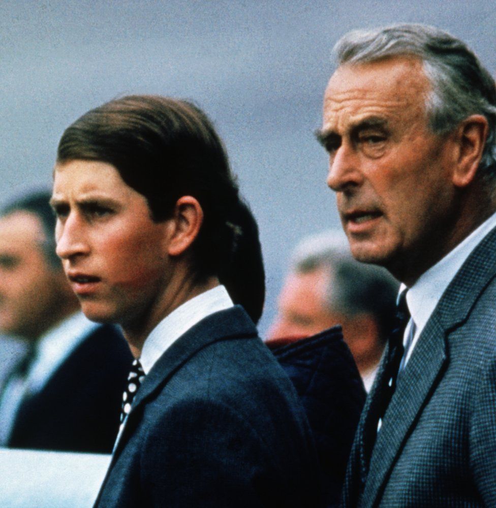 Prince Charles with his great Uncle, Louis Mountbatten