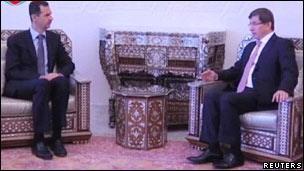 Davutoğlu Şam'da