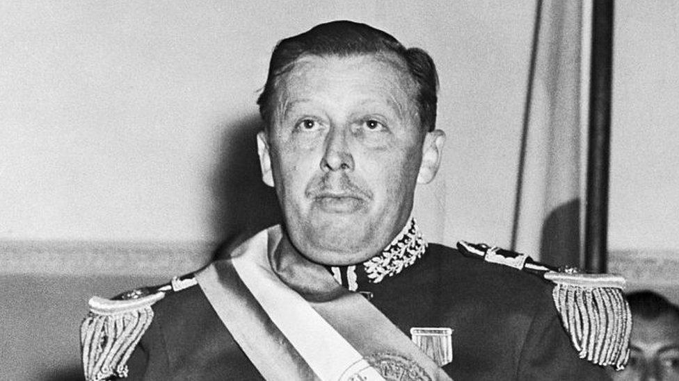 Stroessner en 1954, cuando asumió el poder