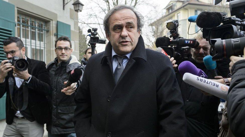 El expresidente de la FIFA, Michel Platini.