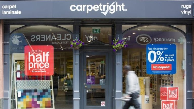 Carpetright to close a quarter of stores in restructuring plan