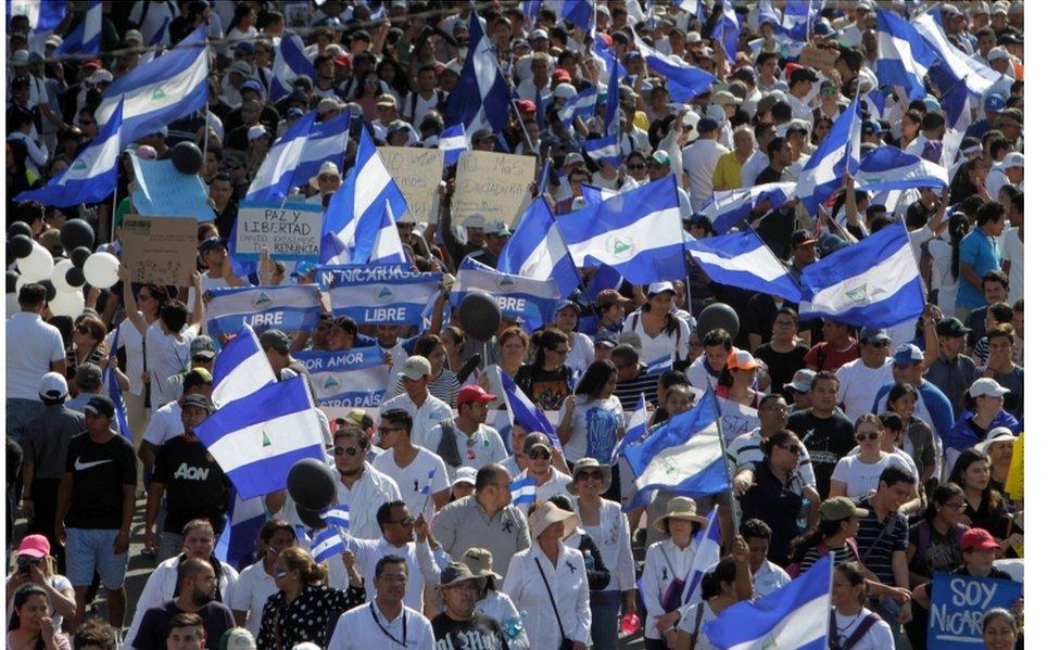 La mayoría de los manifestantes contra Ortega es gente joven, dicen los analistas.