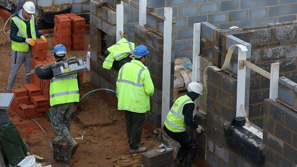 Construction site in UK, file pic
