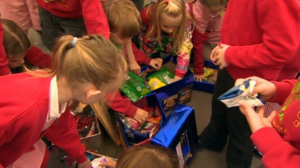 These children in Rhiwbina, Cardiff have a project looking at the plastics in their food packaging