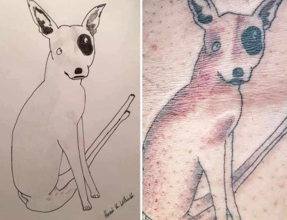 Tattoo of a dog