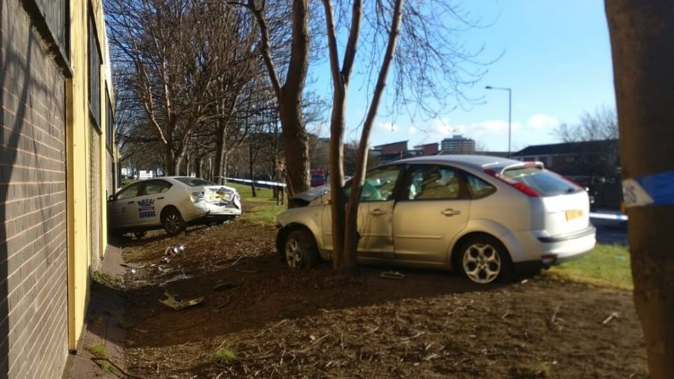 Two seriously hurt in Middlesbrough car and taxi crash