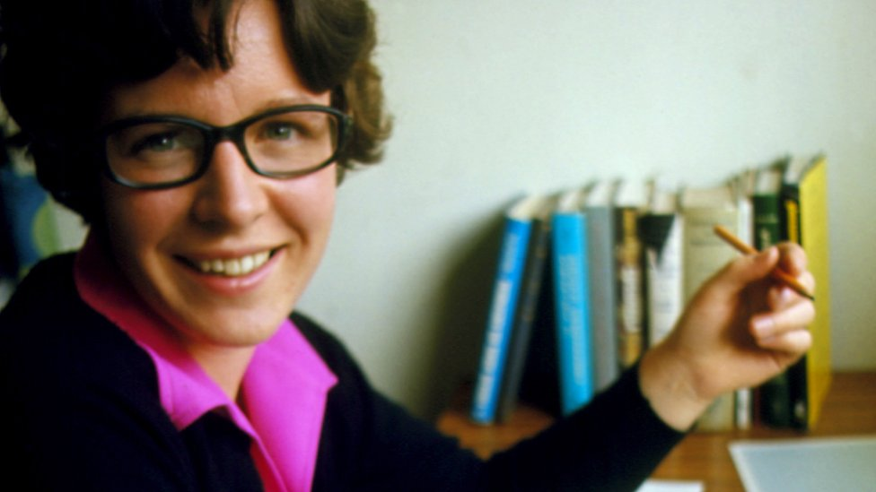 The then Dr Jocelyn Bell Burnell, photographed in 1977