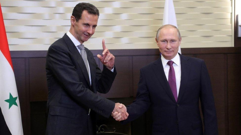 Vladimir Putin y Bashar al-Assad