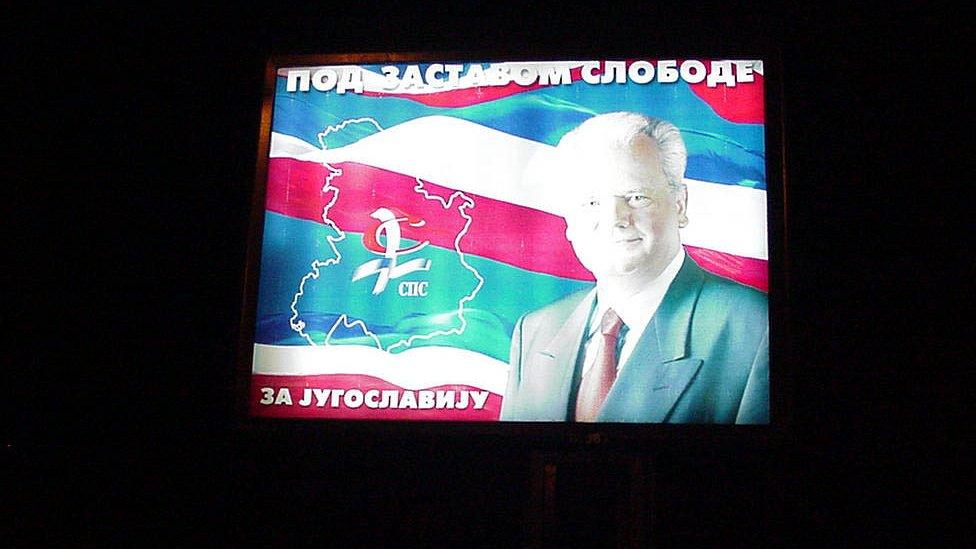Plakat Slobodana Miloševiča