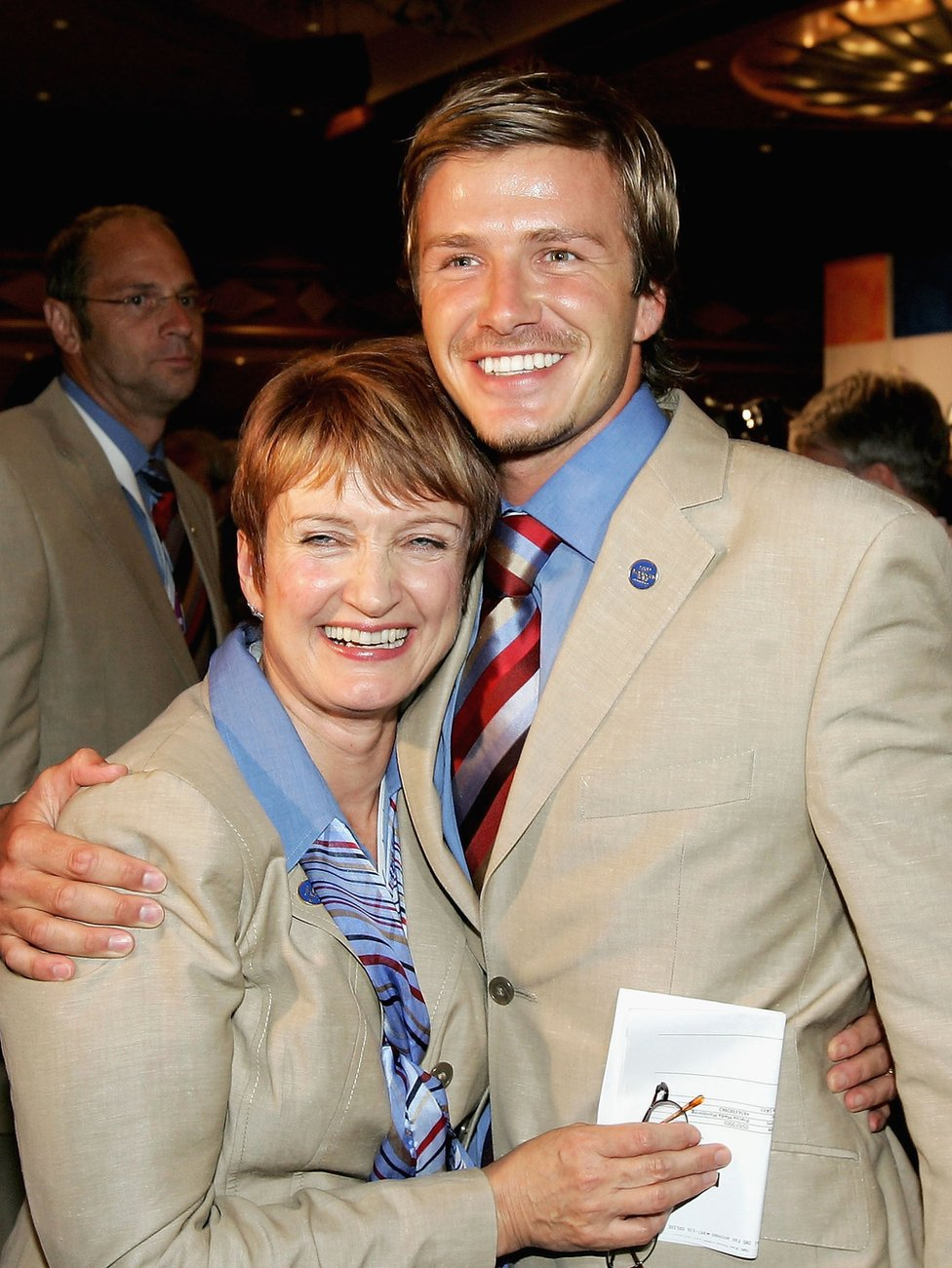 Tessa Jowell and David Beckham