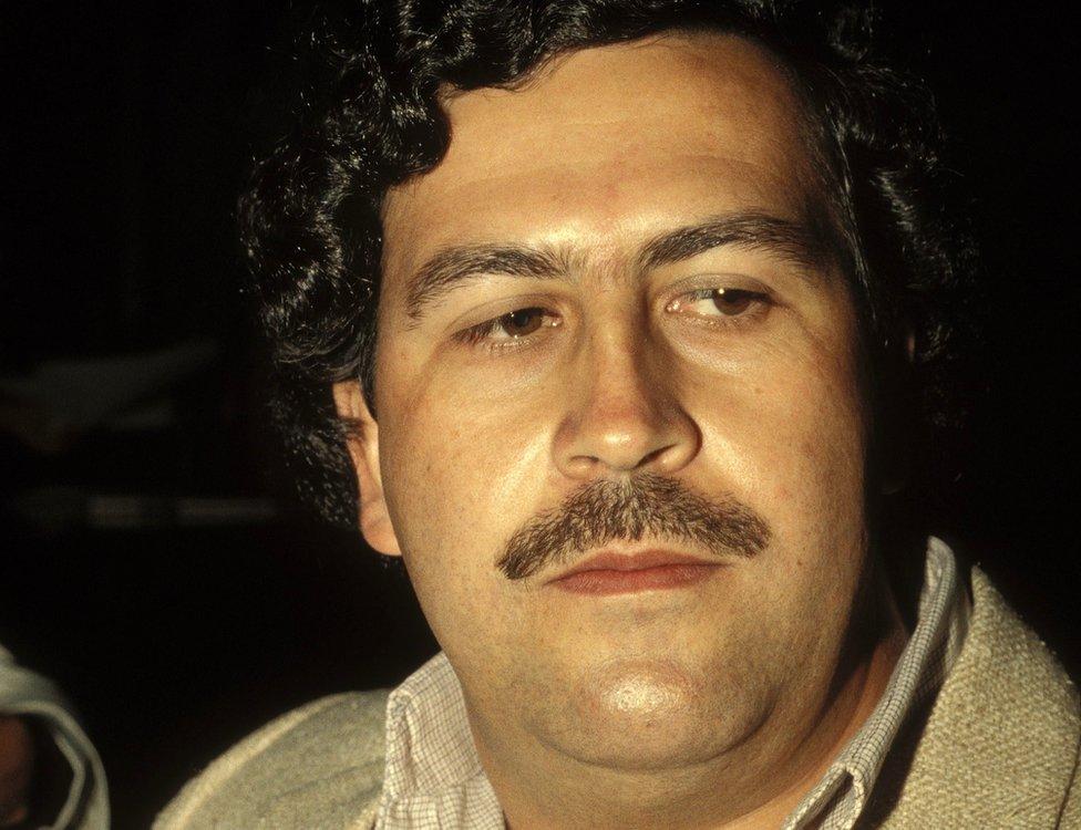 Pablo Escobar, capo del cartel de Medellín en Colombia en febrero de 1988.