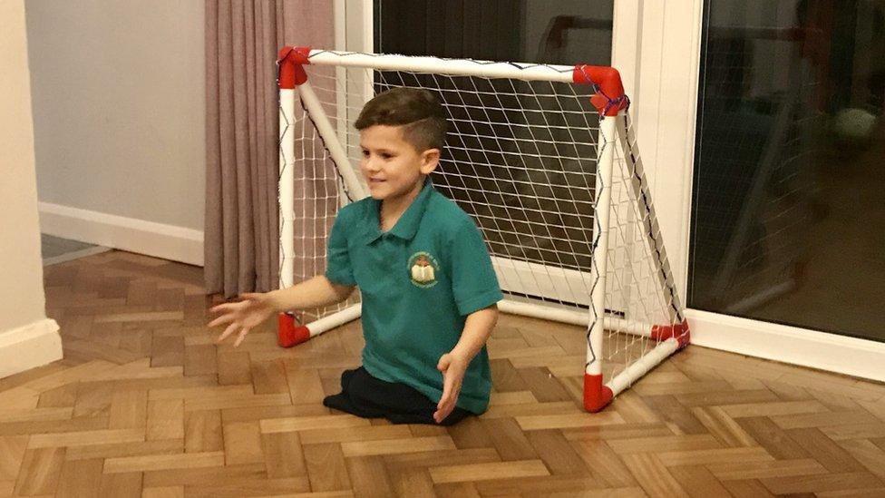 Cardiff boy, 7, finally walks after losing both legs aged 3