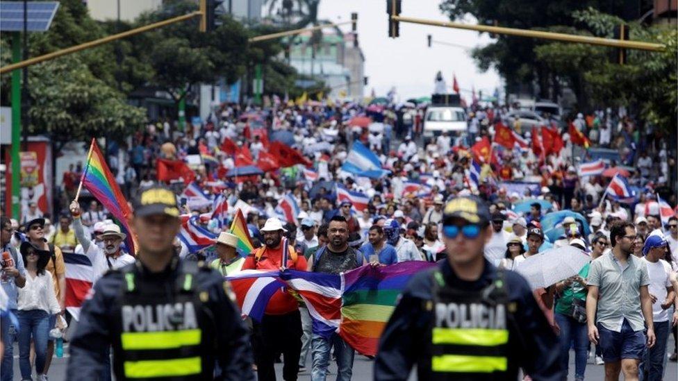 Marcha en Costa Rica