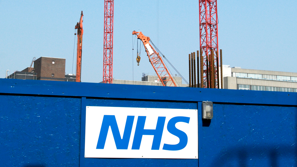 NHS constuction site