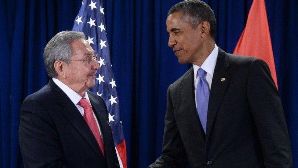 Raúl Castro y Barack Obama.