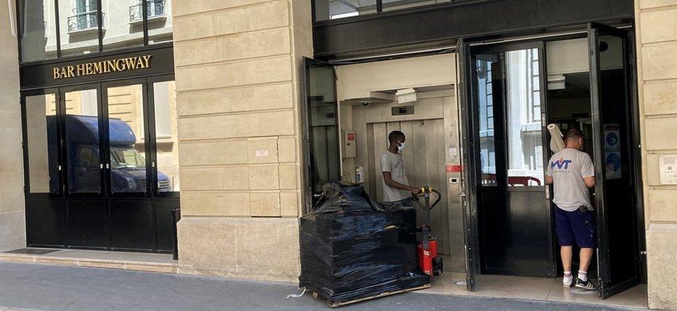 The Ritz Hotel's service entrance in Paris