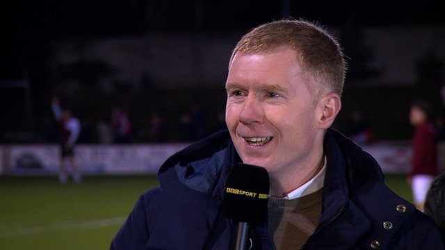Former Manchester United and England midfielder Paul Scholes