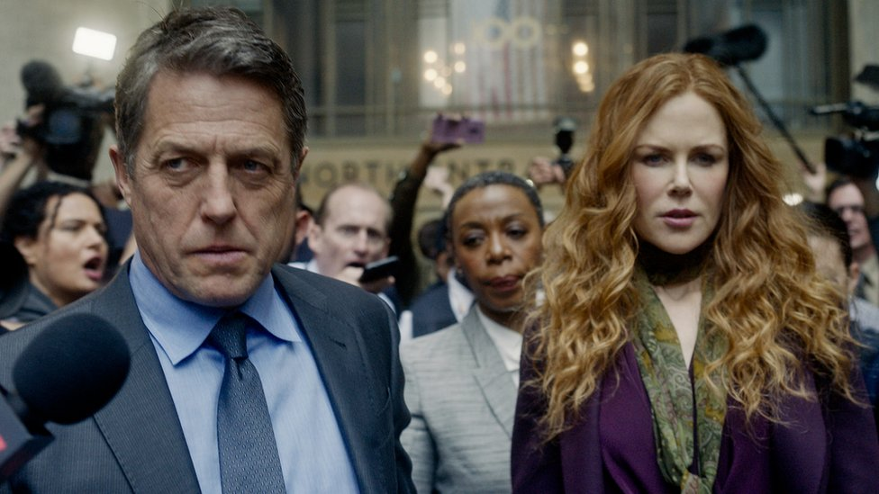 Hugh Grant and Nicole Kidman with Noma Dumezweni in The Undoing