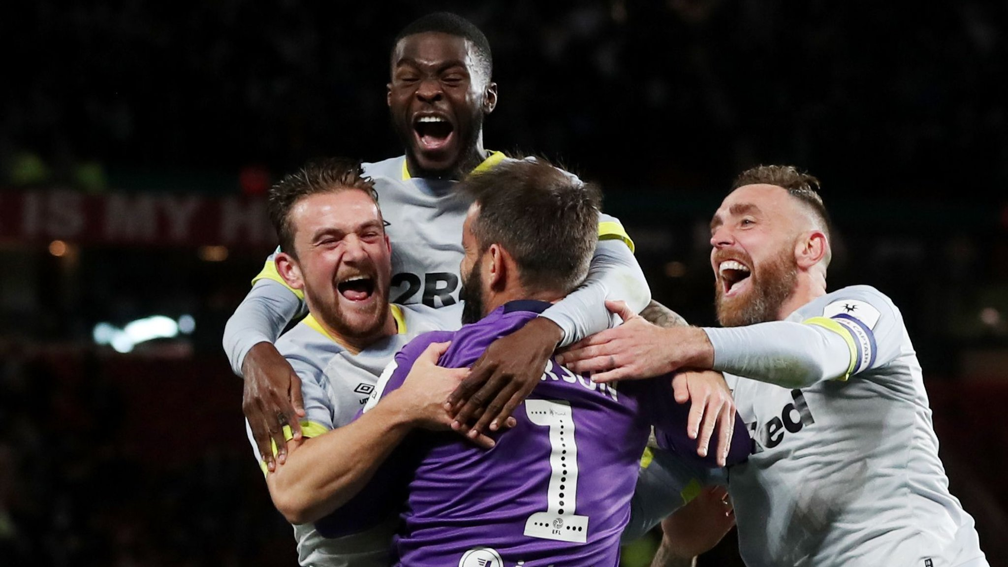 Derby stun Man Utd in dramatic Cup shootout