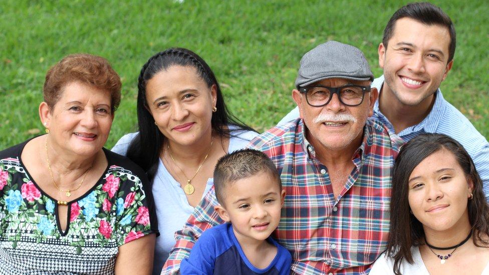 Familia hispana de Estados Unidos.