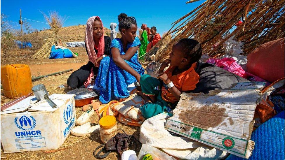 لاجئون إثيوبيون
