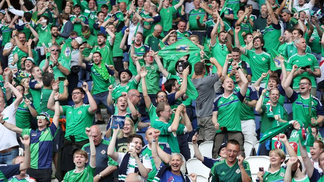Northern Ireland supporters in Paris