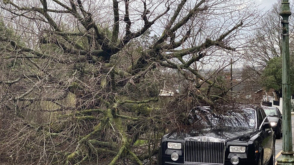 Storm Bella: Gusts of more than 100mph recorded in UK thumbnail