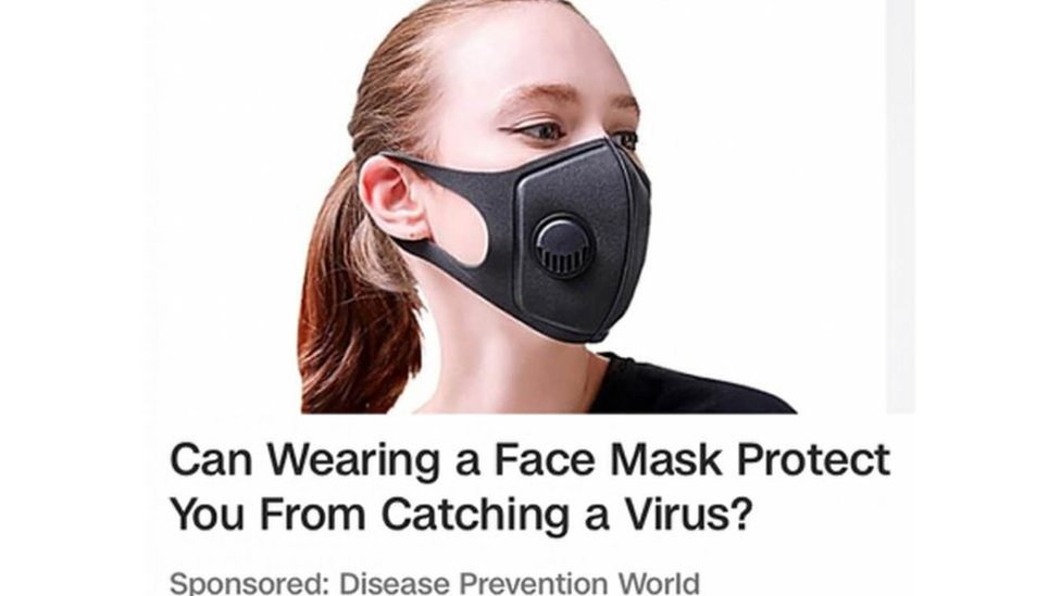 Coronavirus Face Mask Ads Banned For Misleading Claims Bbc News