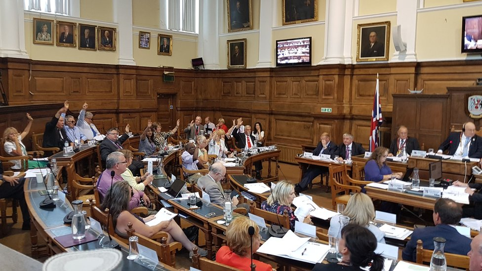 """Northamptonshire County Council approved an action plan for """"radical"""" cuts to services"""