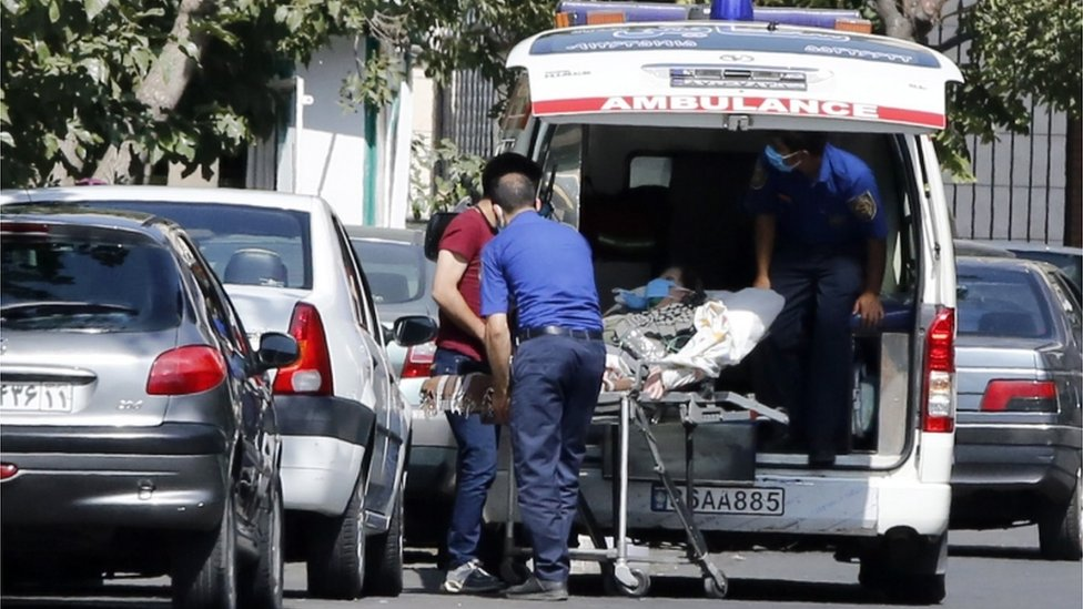 Ambulancia en Teherán