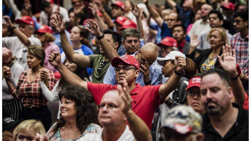 """Un mitin de """"Evangélicos por Trump"""" en Florida"""
