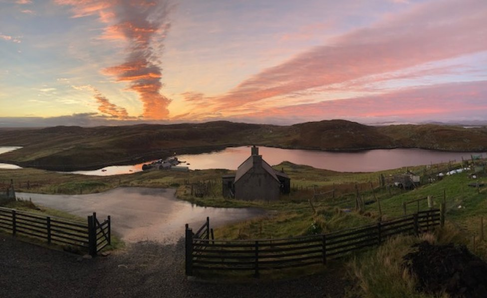 'View from my bedroom window' by Mairi Steele from Borghasgtan on the Isle of Lewis.