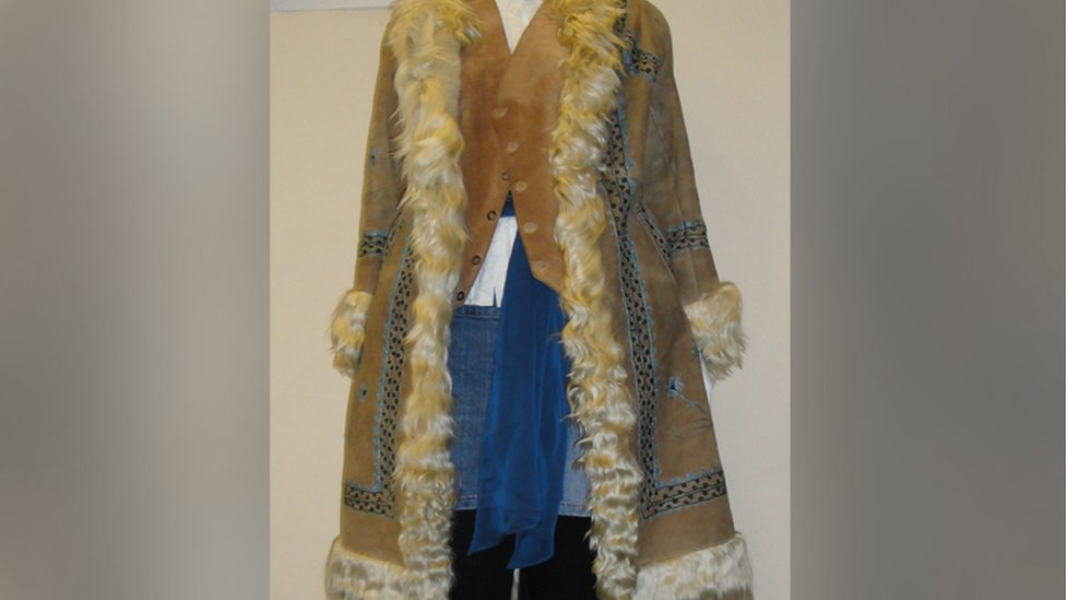 The Afghan-style coat the woman was wearing at the time of her death
