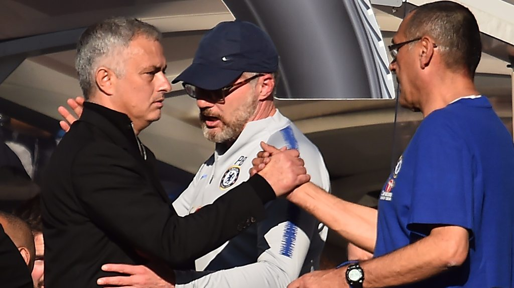 Chelsea 2-2 Manchester United: Maurizio Sarri says Blues in wrong over Jose Mourinho bust-up