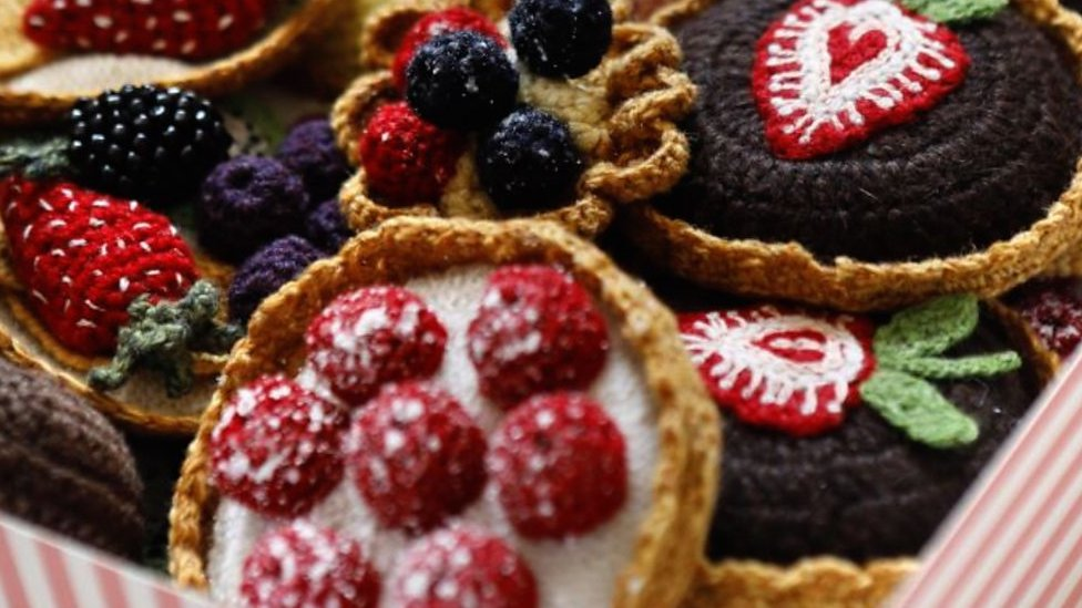Knitted food: Woollen treats go on display in Brighton