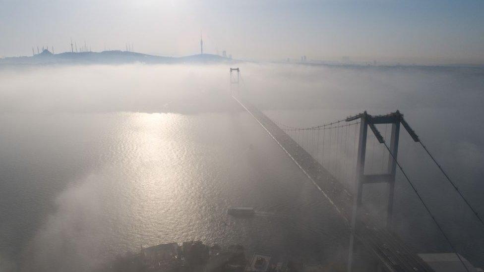 Estrecho de Bósforo en Estambul.