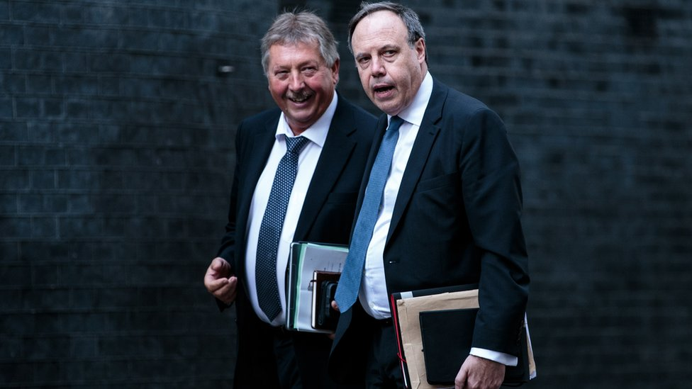 Sammy Wilson and Nigel Dodds