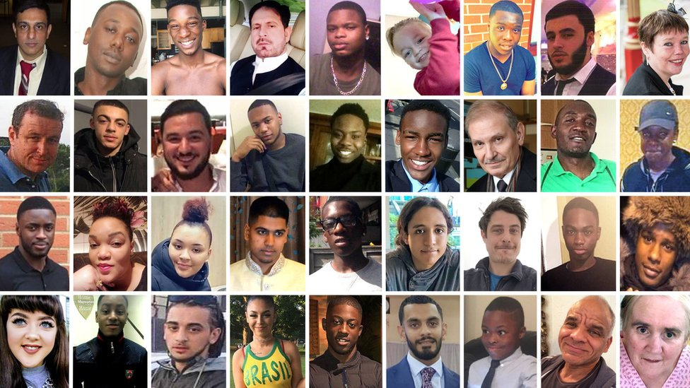 Images of some of those killed in London in 2018