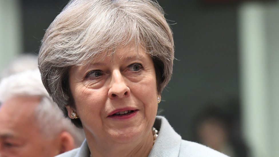 British Prime Minister Theresa May at the EU Eastern Partnership summit
