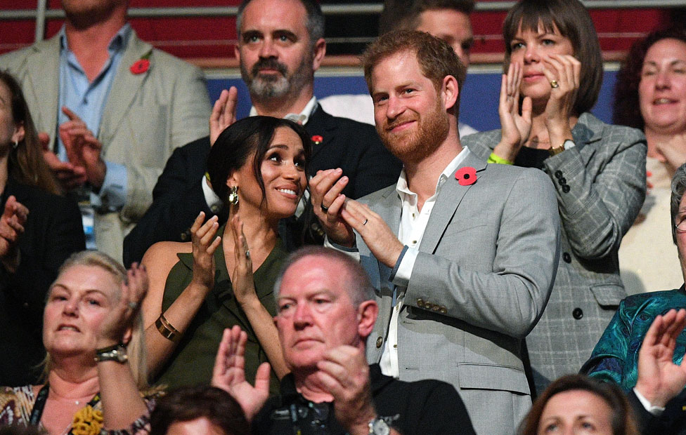 The duke and duchess at the Invictus closing ceremony