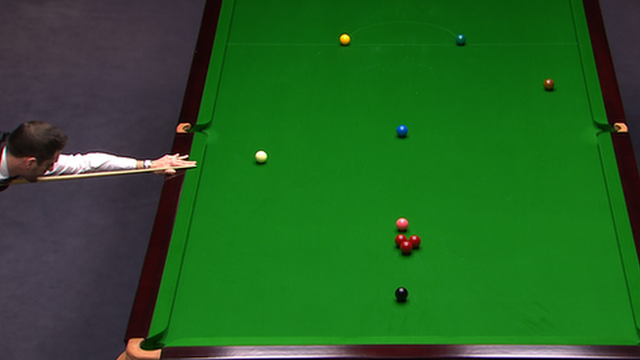 Mark Selby at the UK Snooker Championship