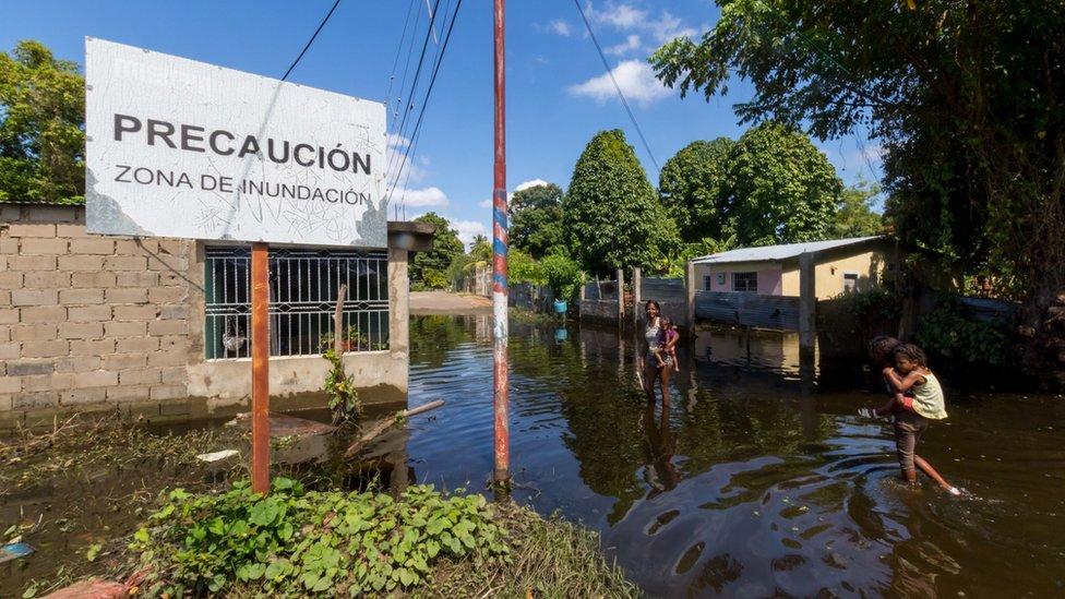 Inundaciones en Puerto Ordaz, Venezuela.
