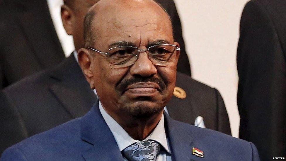Sudan's President Omar al-Bashir while in South Africa