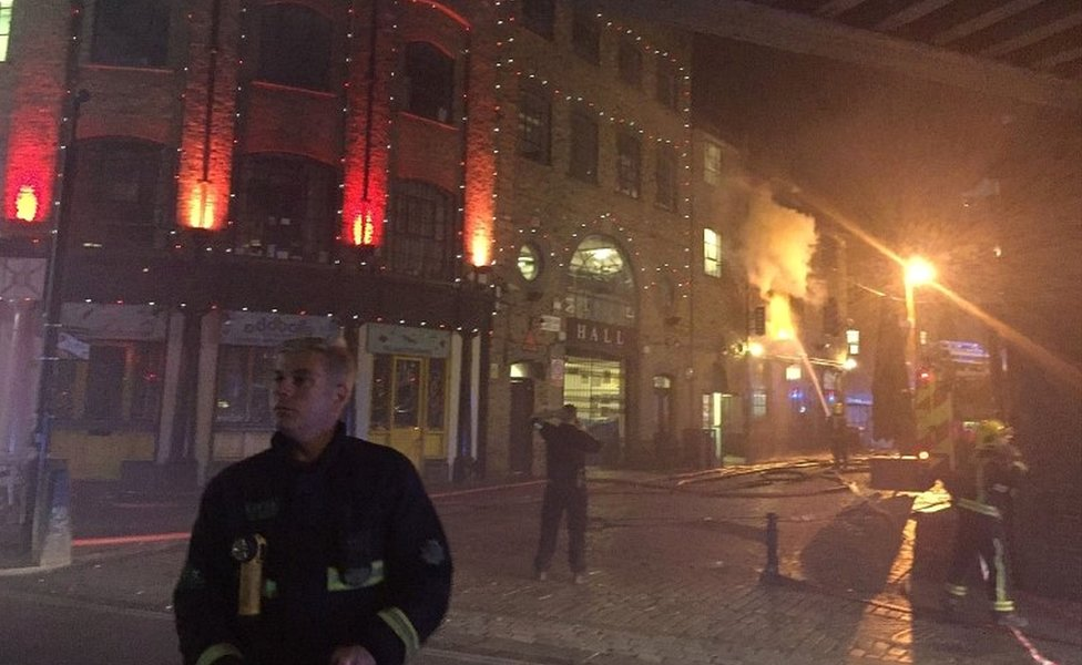 Firefighters in Camden