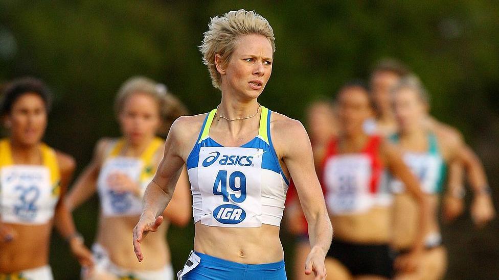 Madeleine Papae taking part in a race in Australian in 2009