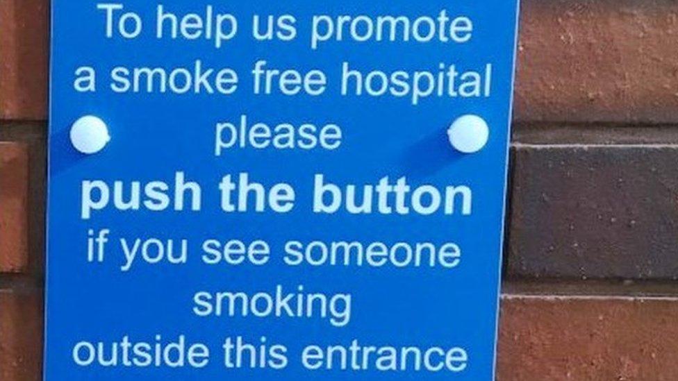 Wakefield's Pinderfields Hospital smokers shamed via loudspeaker
