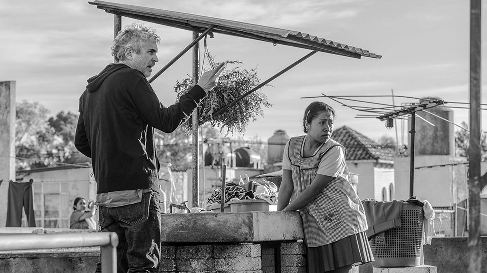 """Alfonso Cuarón en el rodaje de """"Roma"""""""